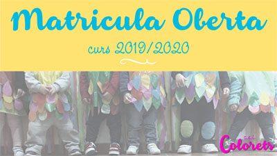 Matricula abierta 2019/2020