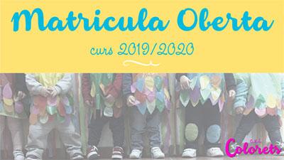 Matricula abierta 2019-2020