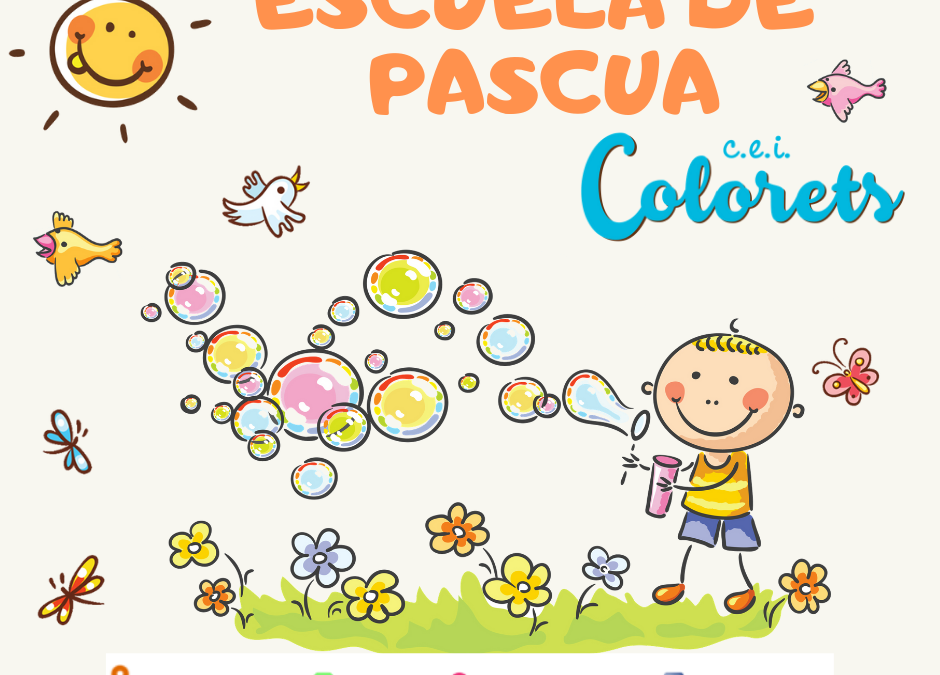 Abierta la inscripción para la ESCUELA DE PASCUA 2019